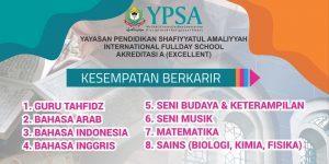 Sekolah Shafiyyatul Buka Kesempatan Berkarir 8 Formasi Guru, Batas Akhir 10 Agustus 2019