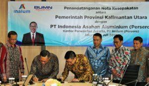 Dorong Pertumbuhan Ekonomi Daerah, Inalum dan Kaltara Bangun Klaster Industri Aluminium