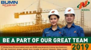 Loker BUMN PT Nindya Karya untuk Tamatan Minimal D3, Buruan Cek Disini!