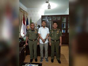 Kasatpol PP Kota Medan Dukung Jalan Sehat Peringatan Sumpah Pemuda