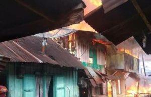 15 Rumah Terbakar di Siantar, Api Diduga Berasal dari Rumah yang Ditinggal Penghuni ke Pasar