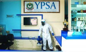 Cegah Penyebaran Virus Corona, YPSA Semprotkan Disinfektan di Lingkungan Sekolah
