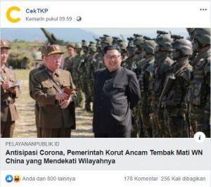 Netizen Indonesia Kagum Korut Ancam Tembak WN China di Perbatasan