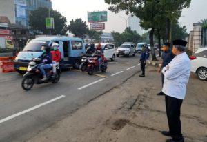 Gubernur Banten Tinjau Pelaksanaan PSBB di KRL dan Check Point Ruas Jalan Tanggerang Raya