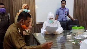 Tak Hanya Wali Kota, Sejumlah Wartawan Kota Serang Turut Ikuti Rapid Test Covid-19