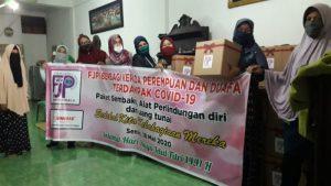 FJPI Sumut Bagikan Paket Sembako untuk Perempuan dan Dhuafa