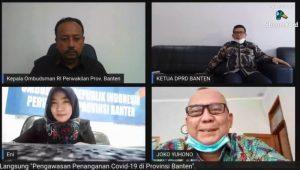 Ombudsman Banten gelar dialog Pengawasan Penanganan Covid-19 di Provinsi Banten