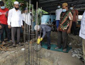 Bupati Asahan Lakukan Peletakan Batu Pertama Masjid Arrahman serta Kunjungi Masyarakat Kecamatan Air Joman