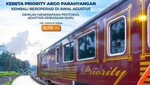 Kereta Priority Argo Parahyangan Kembali Beroperasi, Cek Jadwal Perjalanan di Sini
