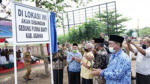 Bupati Hadiri Peletakan Plank Gedung Purna Bakti PNS Kabupaten Asahan