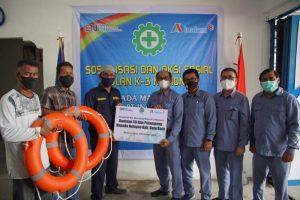 Inalum Sosialisasi K3 dan Beri 50 Pelampung Kepada Nelayan
