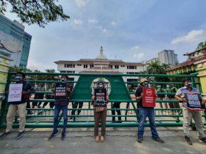 Mulut Dilakban, Wartawan di Medan Kembali Demo Bobby Nasution