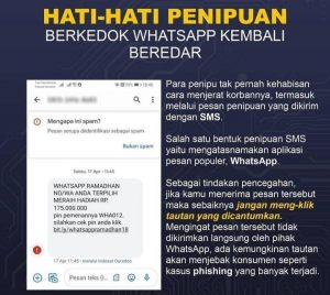 Awas Penipuan Berkedok Hadiah WhatsApp dari SMS, Jangan Buka Link-nya