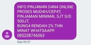 Tawaran Utang Lewat SMS dan WA Dipastikan dari Pinjol Ilegal, Bahkan Penipuan