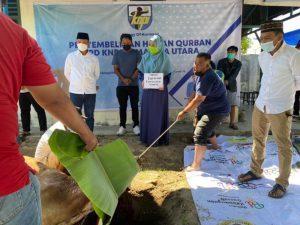 KNPI Sumut Sembelih Hewan Kurban Gubsu dan Walikota Medan