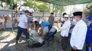 Rayakan Iduladha, Bank Sumut Beri 400 Paket Daging Kurban untuk Warga