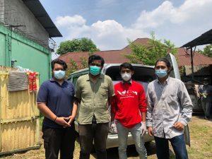 Kolaborasi KNPI Sumut dan Mahasiswa USU Berbagi Sembako di Medan Perjuangan